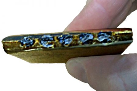 Genuine Metalor kilobar with drilled inserts